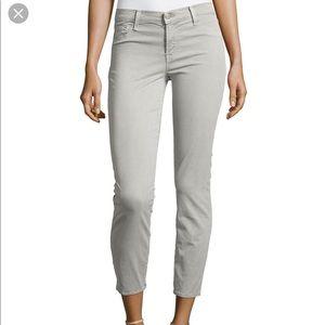 J Brand Cropped Rail Skinny Jeans in Vin O Grey